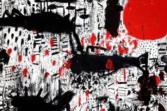 『我慢』-29×42cm-紙、アクリル-2014年